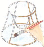 Как сделать каркас для лампа с абажуром своими руками
