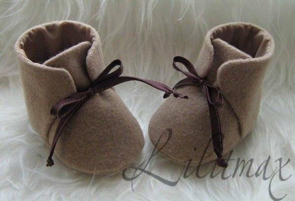 Обувь до года своими руками