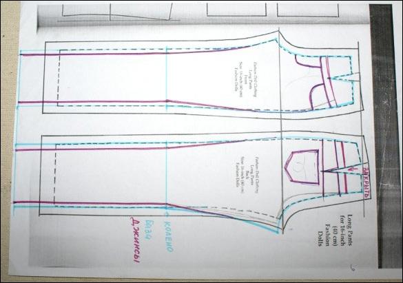 Как сшить джинсы своими руками для куклы барби