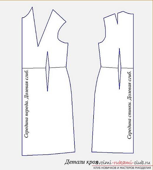 Как сделать выкройку прямого платья для начинающих пошаговая инструкция