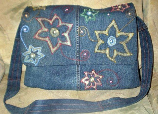 Как сшить сумку своими руками из старых джинсов фото