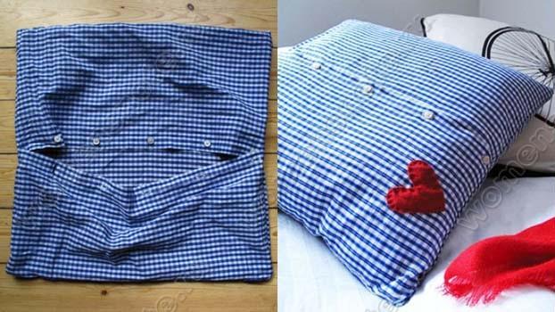 Подушка из мужской рубашки