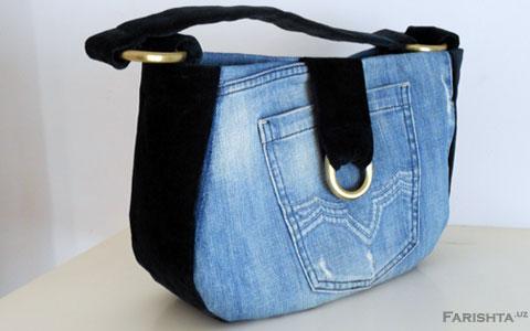Как сшить сумку из джинс своими руками выкройки фото