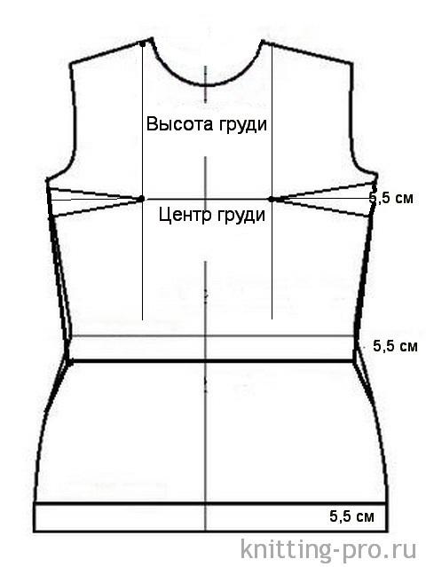 Выкройка лифа с вытачками для платья