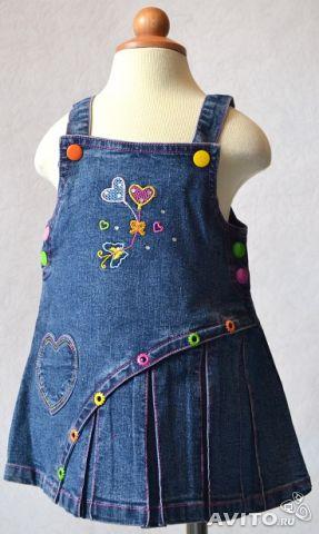Джинсовый сарафан для девочки своими руками из джинсы