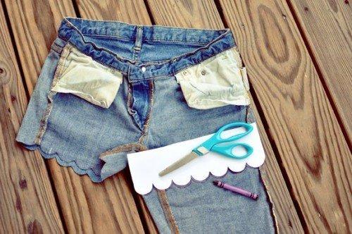 Что можно сделать из старых джинсов своими руками шорты
