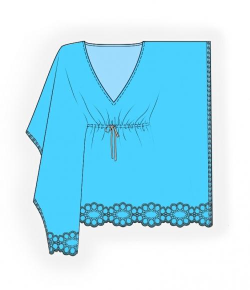 Одеваемся со вкусом. . Выкройка пляжной туники . . Кройка, шитье, вязание - способы и приемы