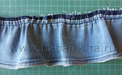 Юбка с воланами из старых джинсов своими руками