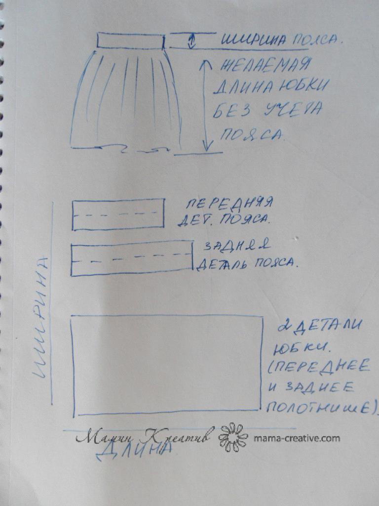 Выкройка юбка татьянка на резинке