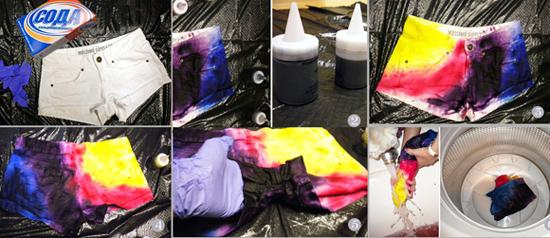 Что бы краска не полиняла с одежды