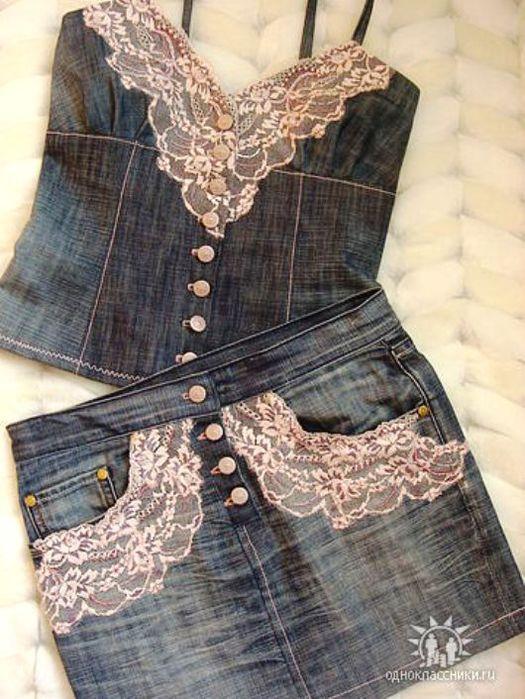 Перешив старых вещей своими руками из джинсов