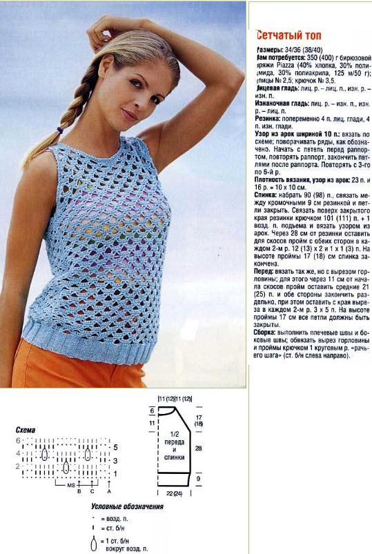 Вязание модные кофточки на лето