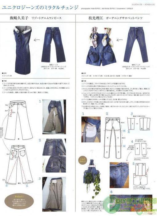 Как сшить юбку из старых джинсов выкройки