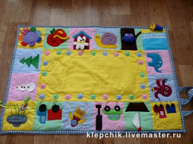 Развивающие коврик для детей своими руками из ткани выкройки