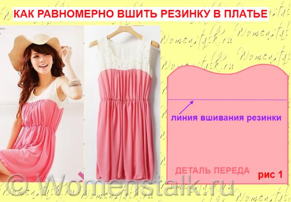 Шьем платье на резинках