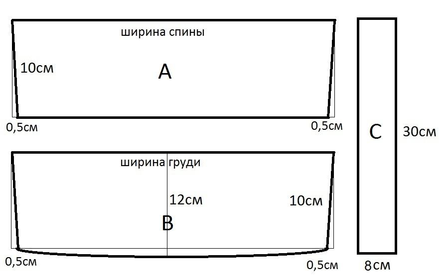 Техника пошива и выкройки русского народного сарафана - Выкройка