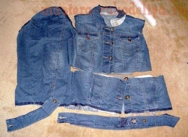 Детская куртка своими руками из старых джинсов