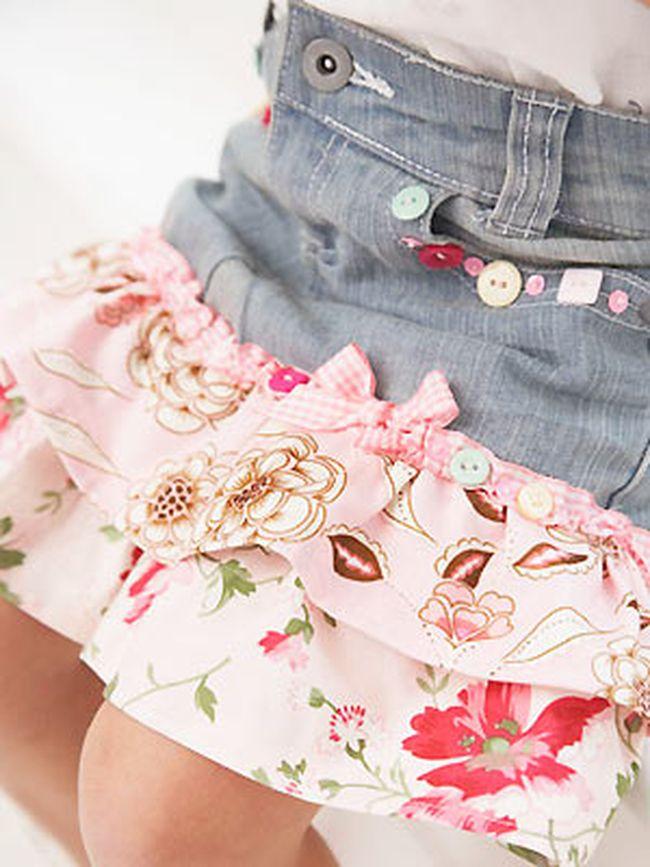 Сшить модную юбку своими руками из джинс