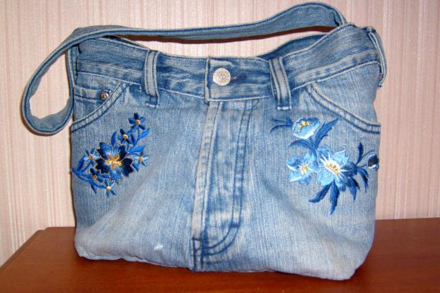 Как из старых джинсов сшить модную сумку своими руками