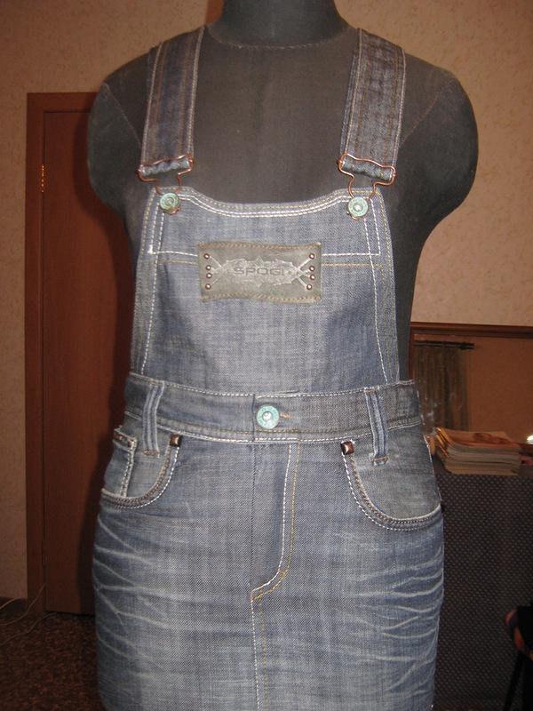 Джинсовый сарафан из старых джинсов своими руками