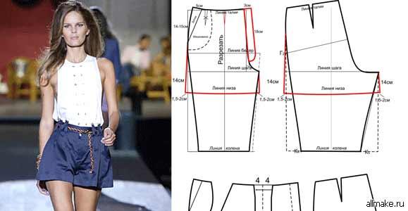 Как сшить шорты короткие своими руками выкройки