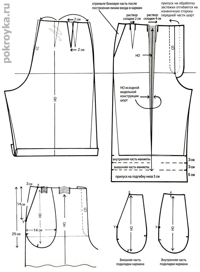 Сшить шорты большого размера