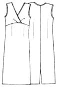 Выкройки платьев: платье без рукавов с завышенной талией