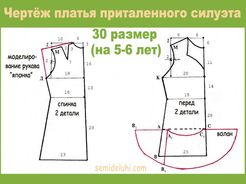 Выкройки детского платья на 5-6 лет