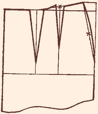 Как Построить Две Вытачки На Заднем Полотнище Юбки