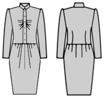 Офисные платья, выкройки