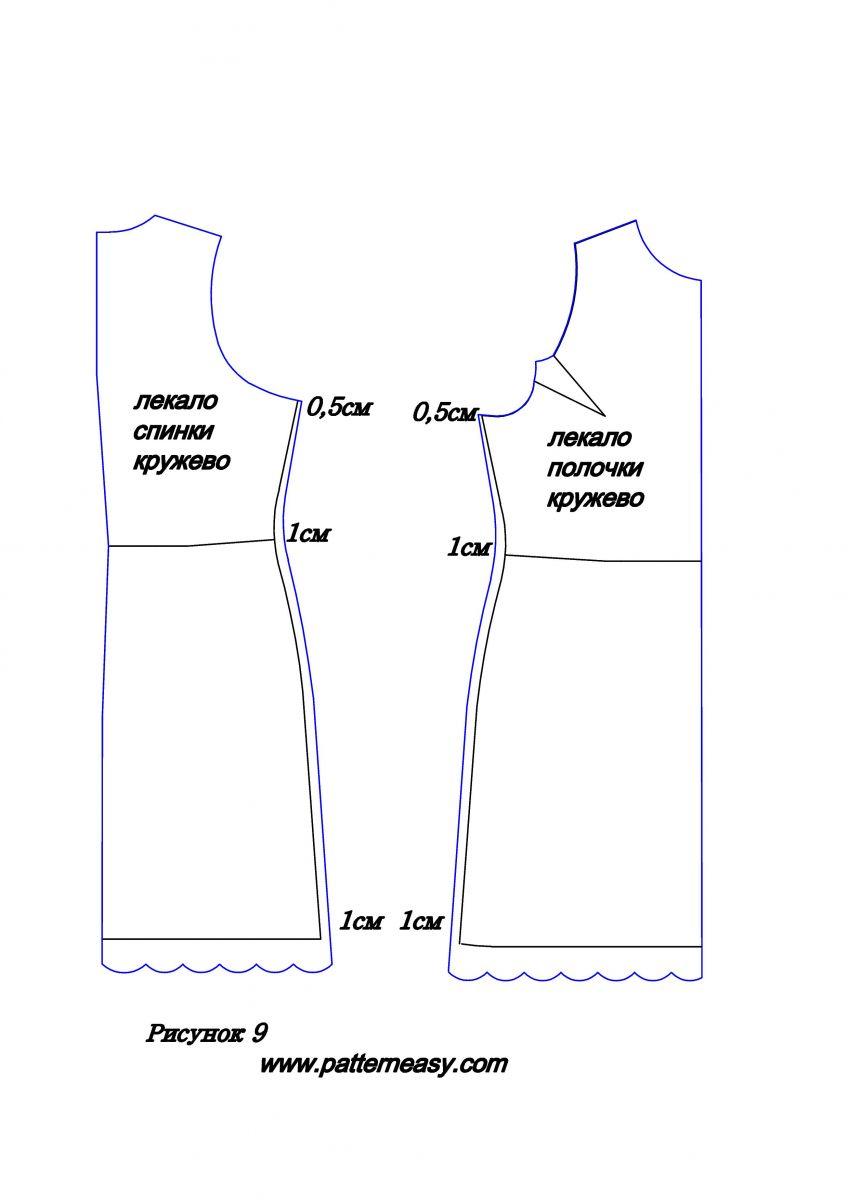 Сшить платье из гипюра выкройка 48