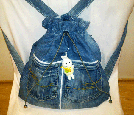 Фото рюкзаки из джинс своими руками