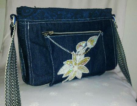Простая сумка из джинс