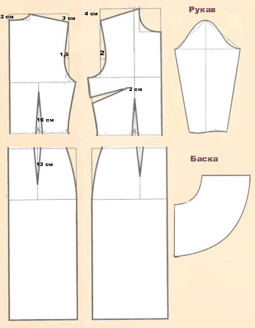 Как сшить баску своими руками фото