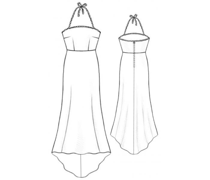 Выкройка вечернего платья в пол бесплатно - Выкройки одежды