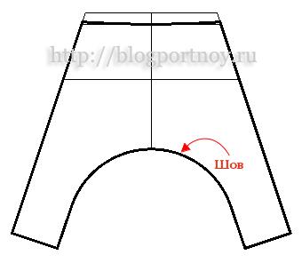 Женские брюки с заниженной линией шага чита