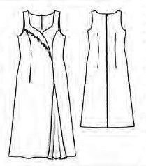 Шифоновое платье в пол, выкройка
