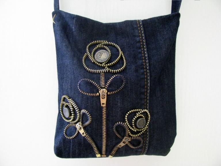 Описание: Как сшить необычную сумку из джинсов. сумки из джинсов идеи