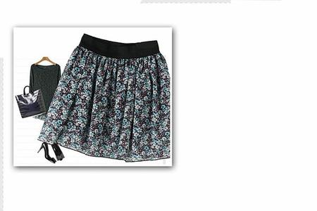 Летняя юбка на резинке фото