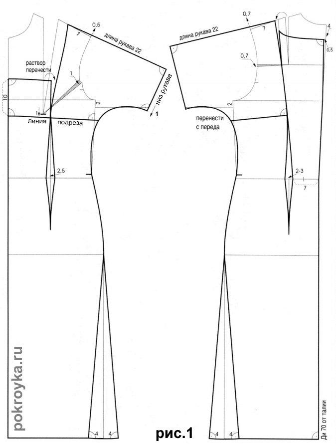 Платье с цельнокроеным рукавом для полных своими руками