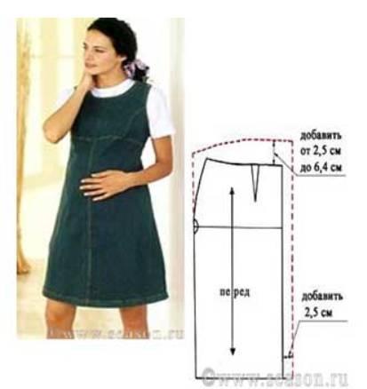 Бурда сарафан для беременных выкройка 96