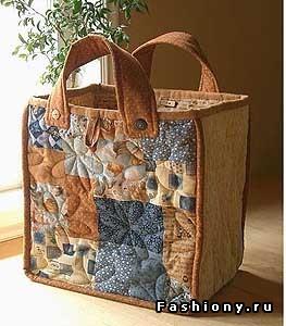 Как пошить хозяйственную сумку из ткани своими руками