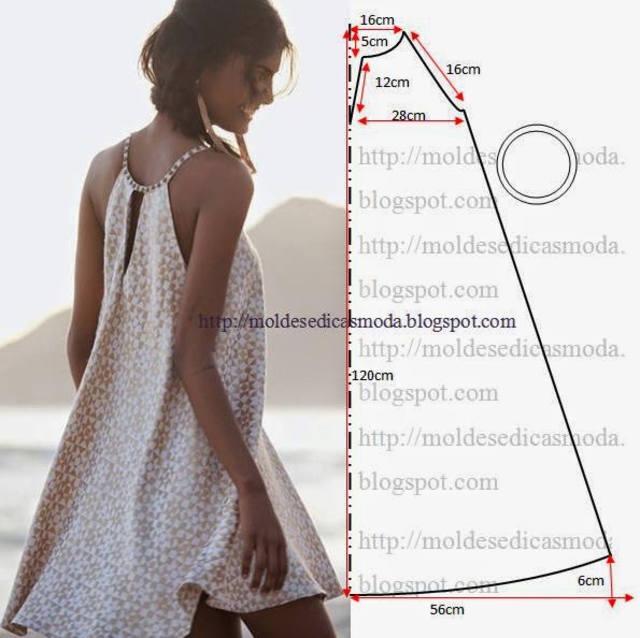 Летние платье своими руками без выкройки фото