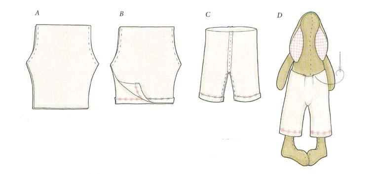 Сшить панталоны для тильды