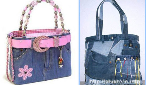 Пляжная сумка из джинсов своими руками мастер класс