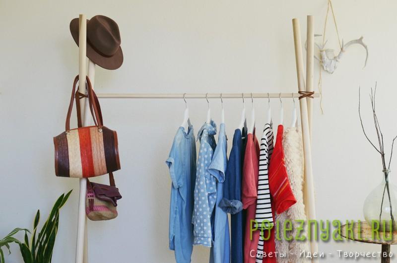 Стойки для одежды напольные своими руками