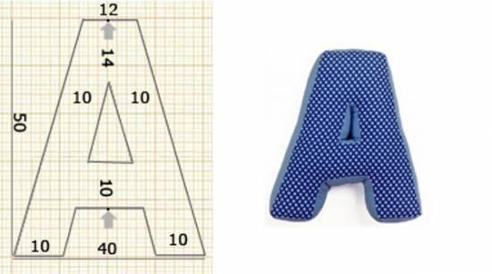 Как сделать выкройку на подушки буквы
