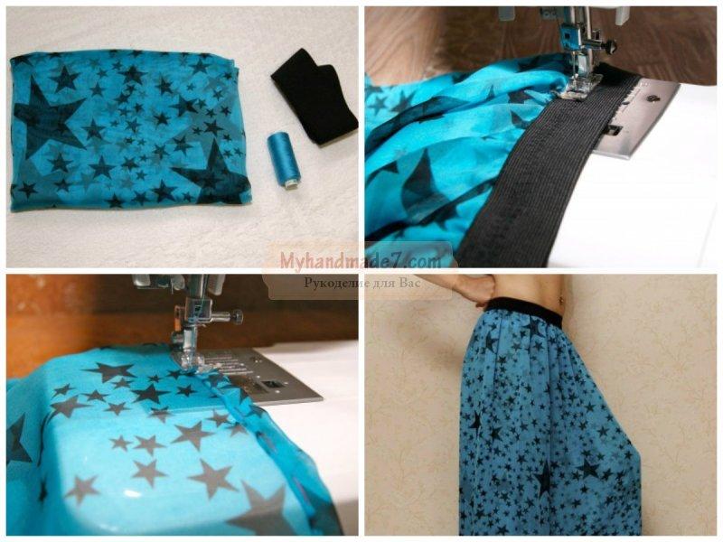 Как сшить юбку своими руками пошагово с фото