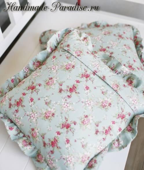 Сшить подушку с молнией